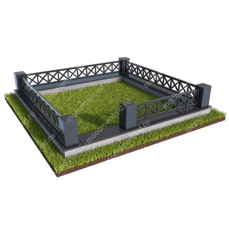 Гранитная ограда ГО-011
