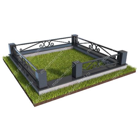 Гранитная ограда ГО-010