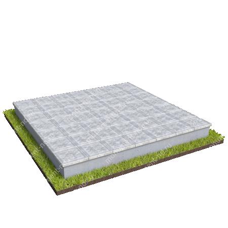 Тротуарная плитка на могилу ТП-09 6