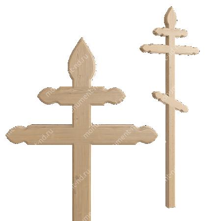 Деревянный крест на могилу ДкС - 012 1