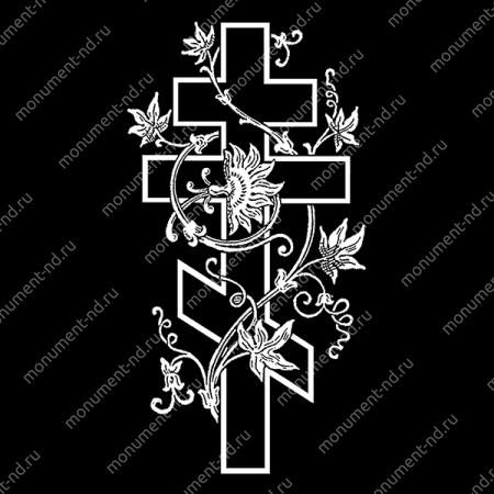 Гравировка Крестика К-003
