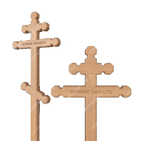 Деревянный крест на могилу ДкС - 007 2