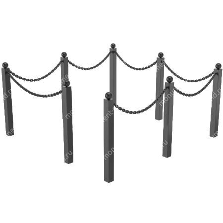 Ограда с цепью ОЦ-03 1