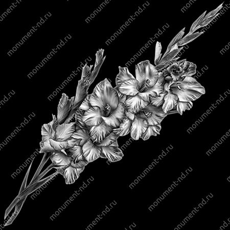 Гравировка цветы Цв-012