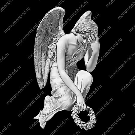 Гравировка ангела А-015 от 25х25 см