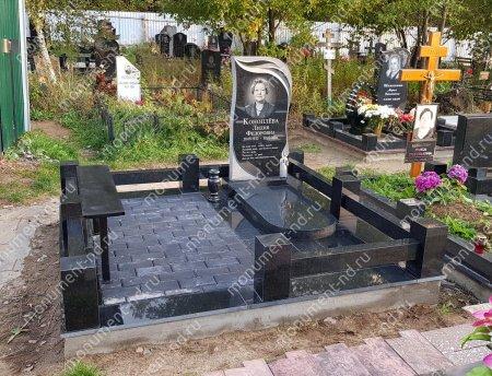 Лавочка с металлическим верхом на могилу Л-004 2