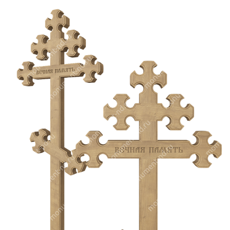 Деревянный крест на могилу ДкД - 010 1