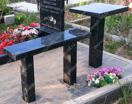 Столик  из гранита на могилу Л-016 2