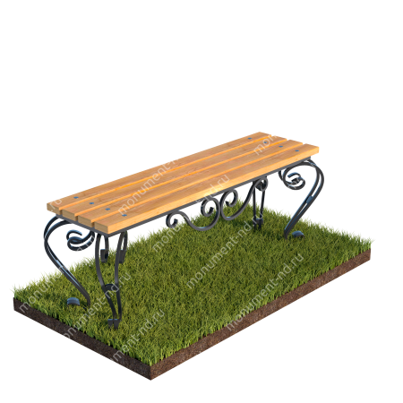 Лавочка с элементами ковки на могилу Л-005 1