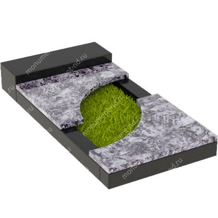 Накладная плита на цветник Цвт-021  5