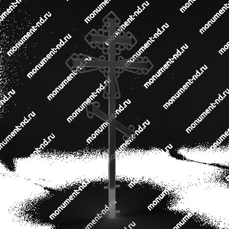 Металлический крест на могилу Кр - 008