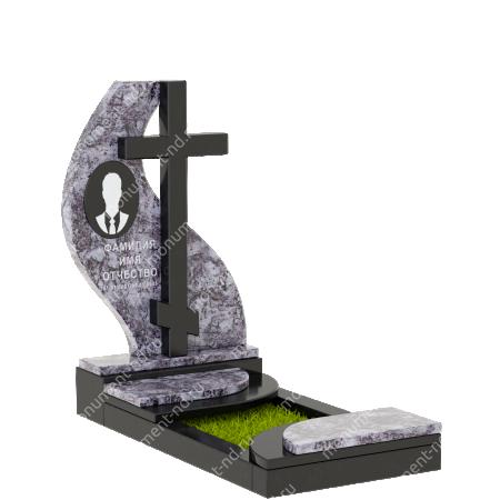 Памятник из цветного гранита - 017 5