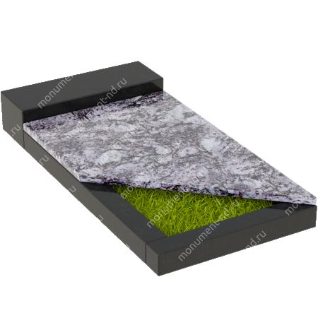 Накладная плита на цветник Цвт-018  3