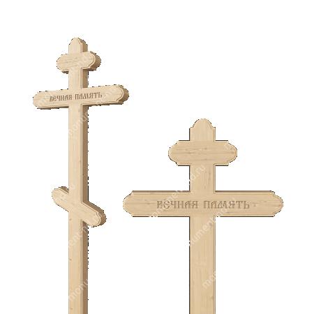 Деревянный крест на могилу ДкС - 008 1