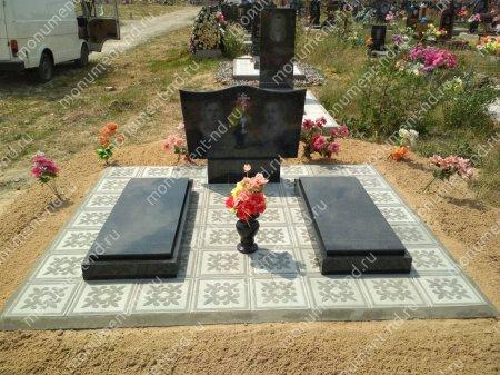 Тротуарная плитка на могилу ТП-09 3