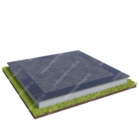 Бетонный цоколь на могилу полный подиум БЦ-001_4 # 1