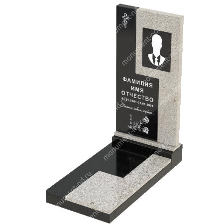 Комбинированный памятник из двух гранитов  КБ-011-2 3