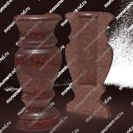 Полуваза на могилу из гранита-017 3