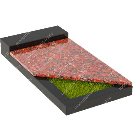 Накладная плита на цветник Цвт-018  2