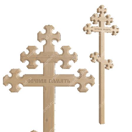 Деревянный крест на могилу ДкС - 010 1