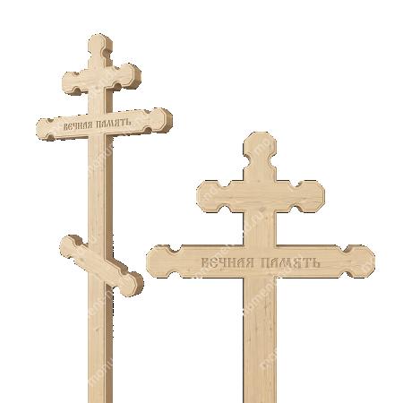 Деревянный крест на могилу ДкС - 007 1