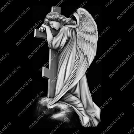 Гравировка ангела А-013 от 25х25 см