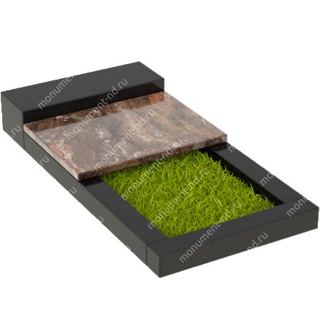 Накладная плита на цветник Цвт-004 4
