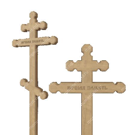 Деревянный крест на могилу ДкД - 007 1