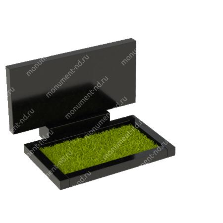 Цветник на могилу из гранита Цвт-200  2