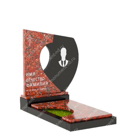 Комбинированный памятник издвух гранитов КБ-015-3 1