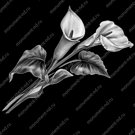 Гравировка цветы Цв-008