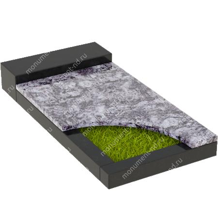 Накладная плита на цветник Цвт-032   4