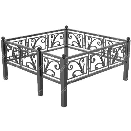 Металлическая ограда -04