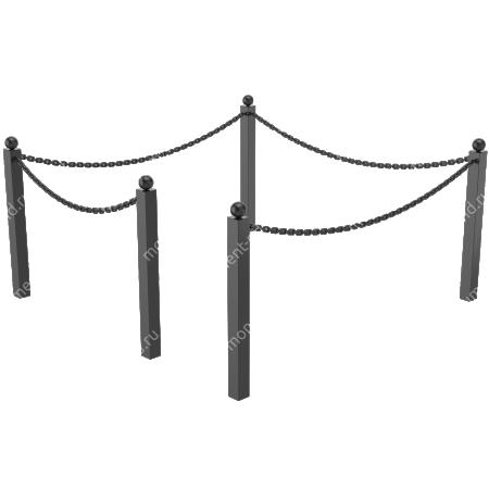 Ограда с цепью ОЦ-01 1
