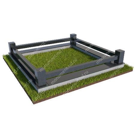 Гранитная ограда ГО-019