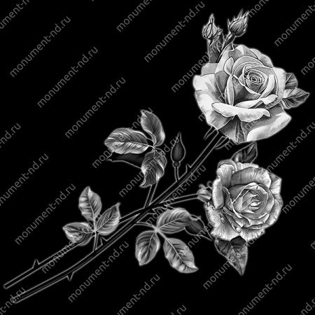 Гравировка цветы Цв-015