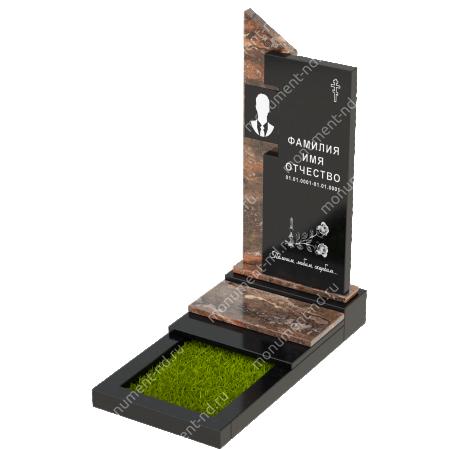 Комбинированный памятник из двух гранитов КБ-003-1  3