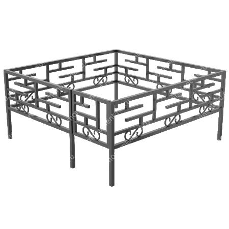 Сварная ограда ОС-017 1