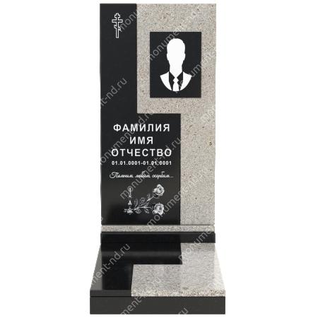 Комбинированный памятник из двух гранитов  КБ-011-2 2