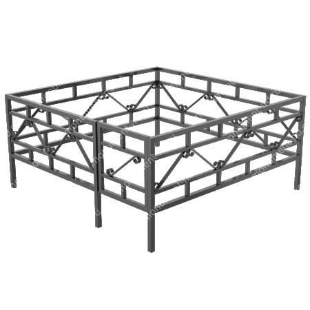 Сварная ограда ОС-002 1