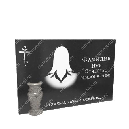 Гранитная табличка на могилу Т-013 Размер: 40х60х2 см. 1