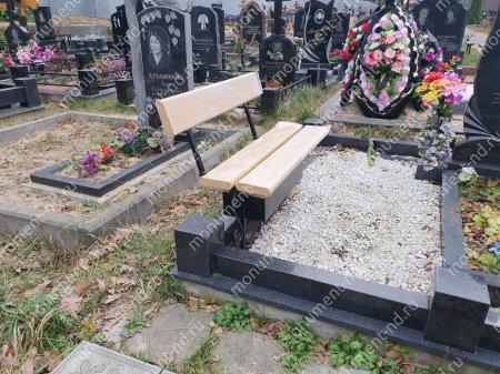 Лавочка со спикой и ящиком  на могилу Л-018 2