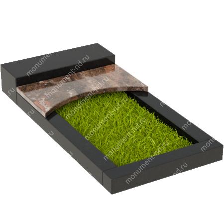 Накладная плита на цветник Цвт-009  4