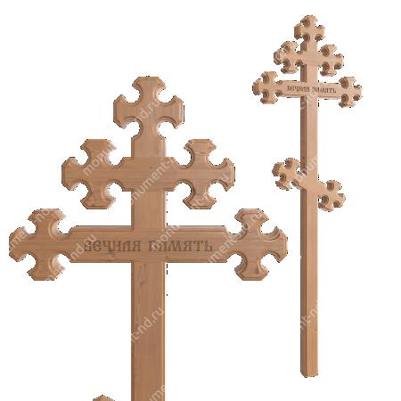 Деревянный крест на могилу ДкС - 010 2