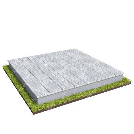 Бетонный цоколь на могилу полный подиум БЦПП-003_3 # 2