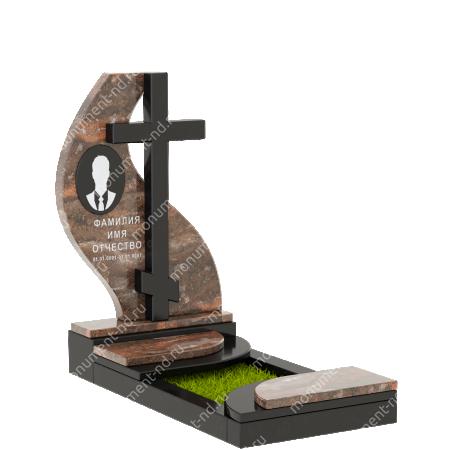 Памятник из цветного гранита - 017 1