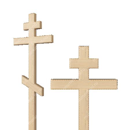 Деревянный крест на могилу ДкС - 004 1