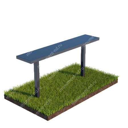 Лавочка с металлическим верхом на могилу Л-004 1