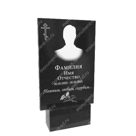 Гранитная табличка на могилу Т-005  Размер: 60х40х2 см. 1