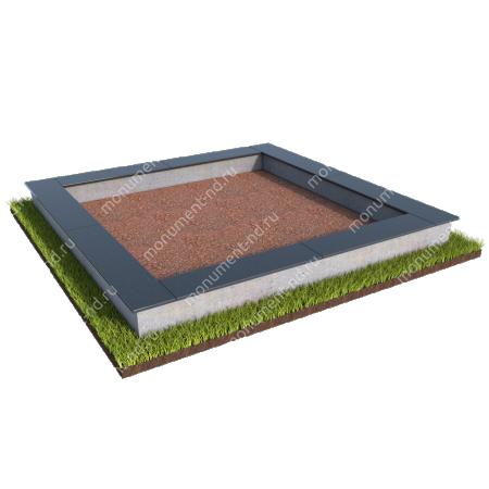 Бетонный цоколь на могилу БЦ-001 # 2